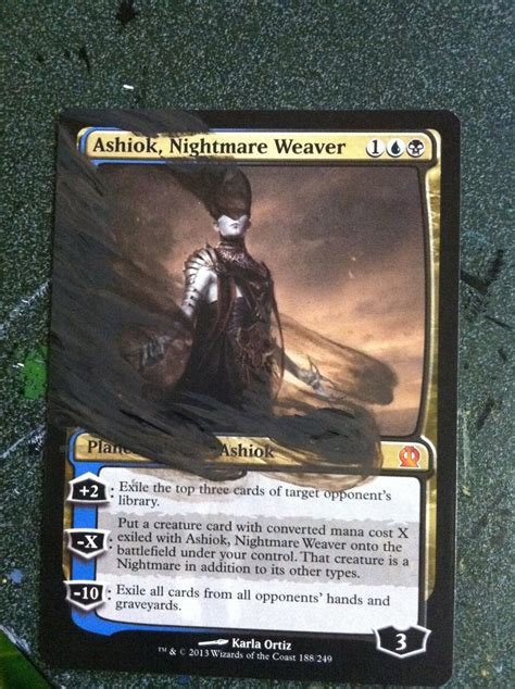 ashiok nightmare weaver deck ashiok nightmare weaver deck commission by rinji