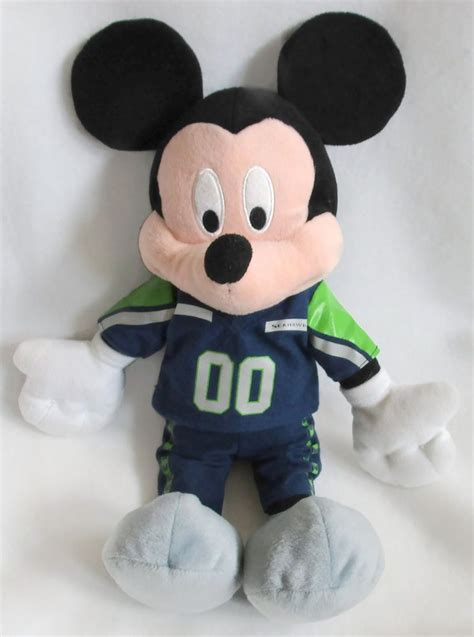 seattle seahawks mickey mouse plush soft toy stuffed nfl