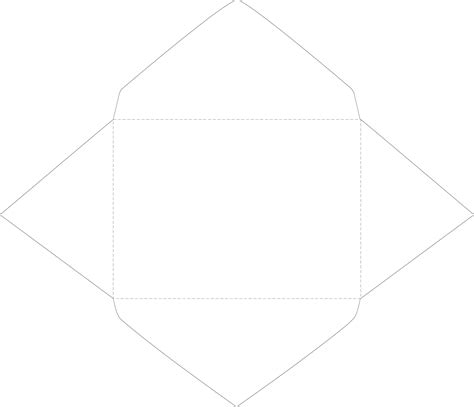 baronial style envelope template