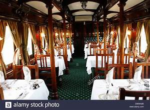 The Tables In Dining Car On Board The Luxurious Rovos Rail