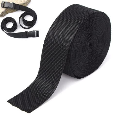 Upholstery Webbing Straps by 5cmx10m Black Fabric Webbing For