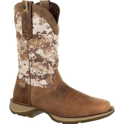 rebel  durango desert camo pull  western boot ddb