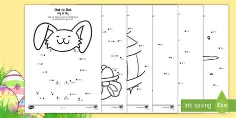 easter dot  dot worksheet activity sheets englishhindi