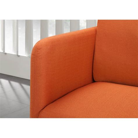 canapé orange canapé droit vintage cubique 3 places jonaz en tissu orange