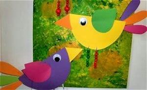 Vögel Basteln Zum Aufhängen : zwei quitschbunte v gel fr hling crafts for kids preschool crafts und easter crafts ~ A.2002-acura-tl-radio.info Haus und Dekorationen