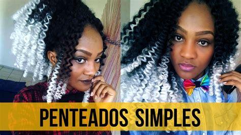crochet braids penteados simples youtube