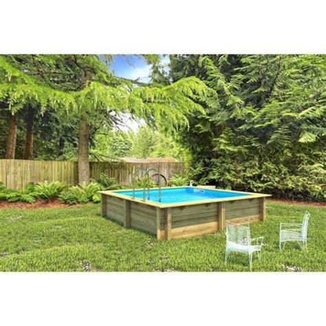 piscine bois enterree rectangulaire piscine bois weva rectangulaire 3m x 3m x 1 20m achat vente piscine piscine bois weva