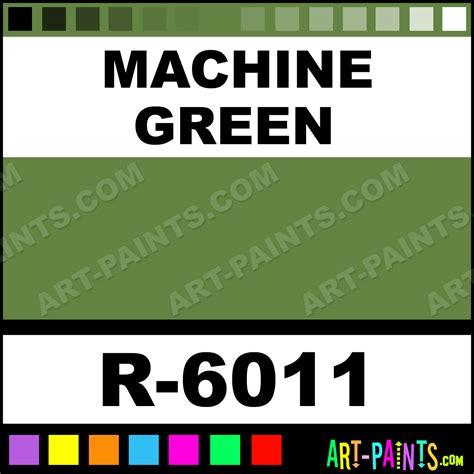 machine green spray paints r 6011 machine
