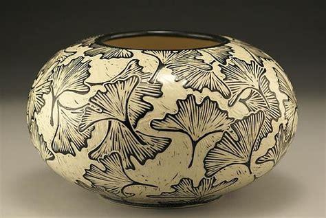large  ginkgo vase  jennifer falter ceramic vase