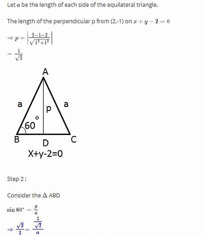 Equilateral Triangle Base Equation Bootstrap Forms Opposite