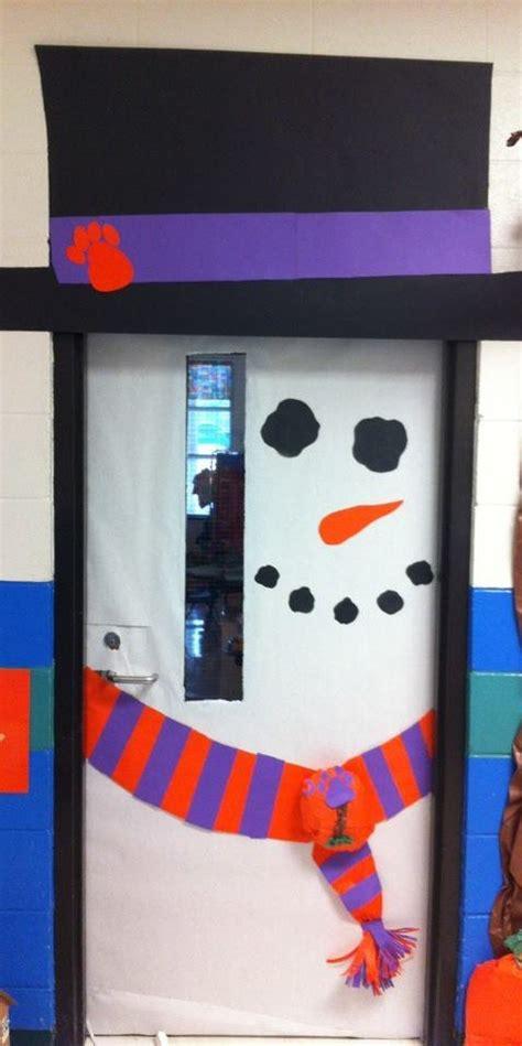 Winter Classroom Door Decorations by Snowman Door Prek Winter Snowman Door