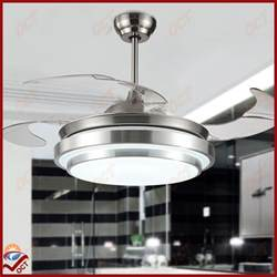 modern 85 265v led quiet luxury folding ceiling fan light
