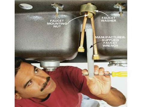 how to change out a kitchen faucet kitchen how to change kitchen faucet with washer how to