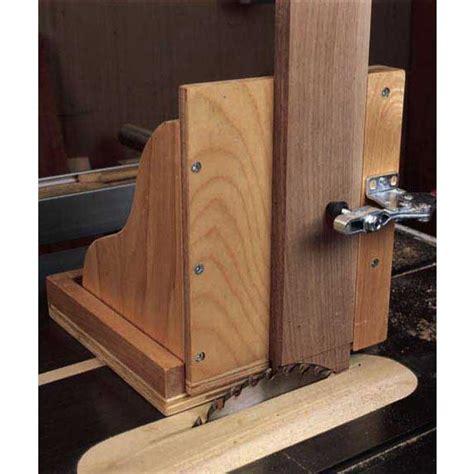 woodworkers journal table  tenoning jig plan rockler