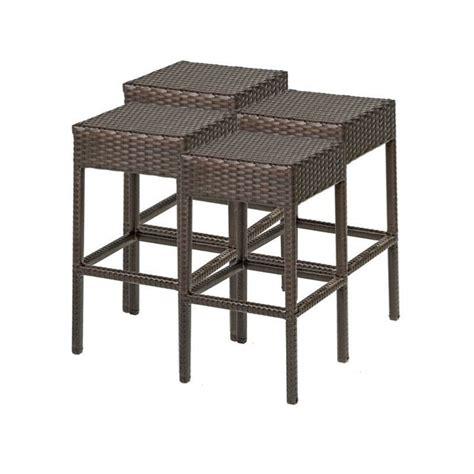 tkc napa backless outdoor wicker bar stools in espresso