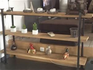 étagère Bois Brut : mobilier d coratif m tallique sigal industries ~ Teatrodelosmanantiales.com Idées de Décoration