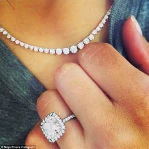 ciara engaged ring naya rivera rocks bling in sweatpants and a sweatshirt during a casual walk with fiancé