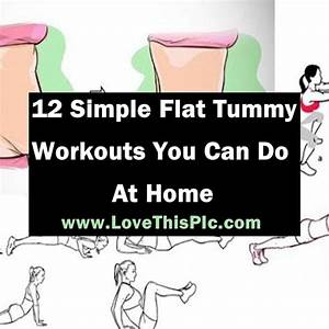 Here Are 12 Simple And Effective Flat Tummy Workouts You Can Do At Home