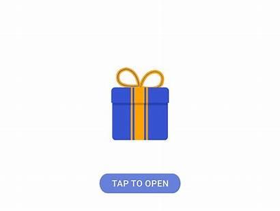 Gift Animated Dribbble Icon Animation
