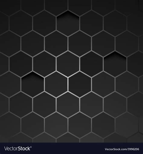 Abstract Black Texture Background Hexagon by Abstract Black Background Hexagon Royalty Free Vector Image
