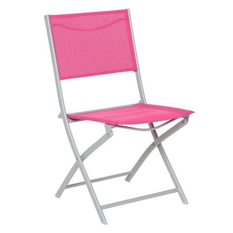 chaises pliantes de jardin lot de 2 chaises de jardin pliantes modula framboise