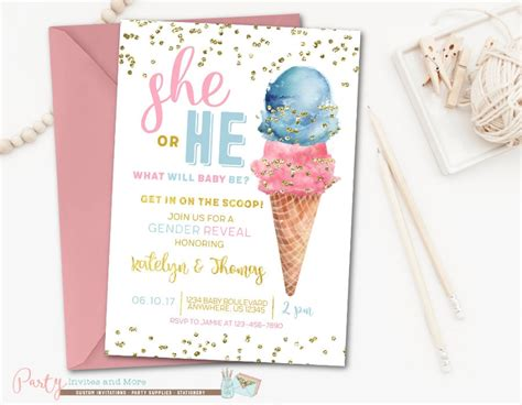 gender reveal invitation designs  examples psd