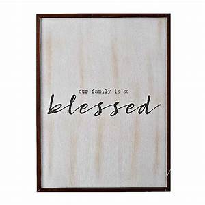 Our Family is So Blessed Wall Plaque Kirklands