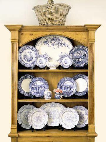 plate display ideas white decor blue white blue white china