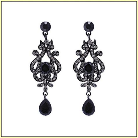 black chandelier earrings jewelry