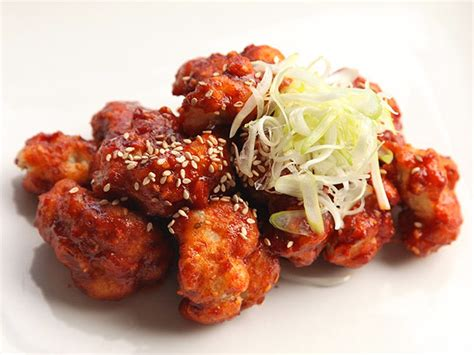 cauliflower fried korean buffalo vegan chicken recipe recipes sauce snacks snack spicy chili crisp deep food vegetarian fry sweet chinese