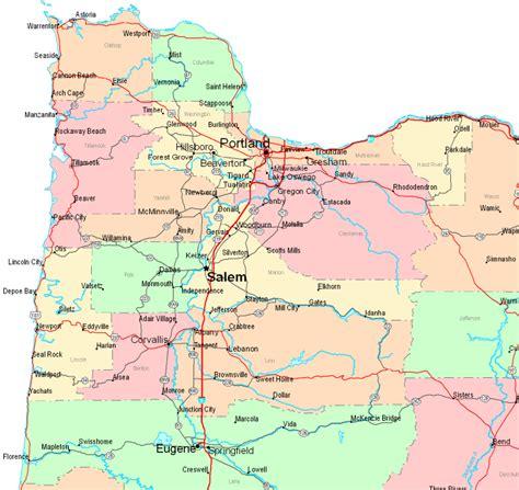 map  oregon northwest