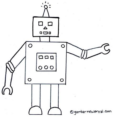 gambar mewarnai robot pulau robots