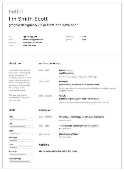 resume templates   freebies graphic design