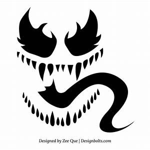Marvel, Venom, Pumpkin, Stencil, -, Pumpkin, Pattern, -, Pumpkin, Template