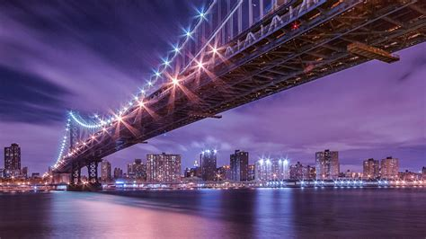 manhattan  night wallpaper wallpapersafari