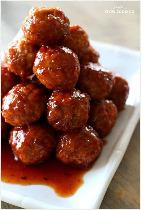 slow cooker  ingredient party meatballs  days