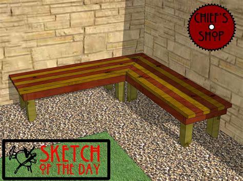 woodwork outdoor corner bench plans pdf plans