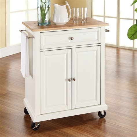 crosley furniture white craftsman kitchen cart  lowescom