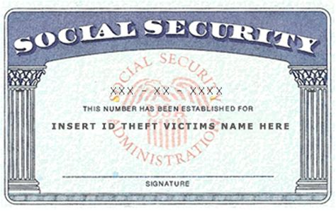 Make A Social Security Card Template by Social Security Number Identity Theft Expert Information