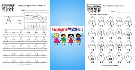 Kindergarten Worksheets  Free Printable Worksheets For Kindergarten Teachers And Parents