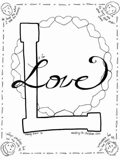 Coloring Sheet Valentines Children Bible Valentine Jesus