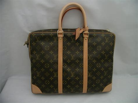authentic louis vuitton monogram briefcase laptop bag tote