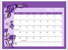 Calendar for May 2017 Calendar And Images