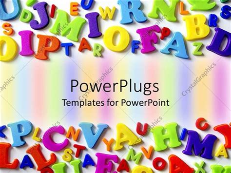 powerpoint template macro composition  colorful plastic