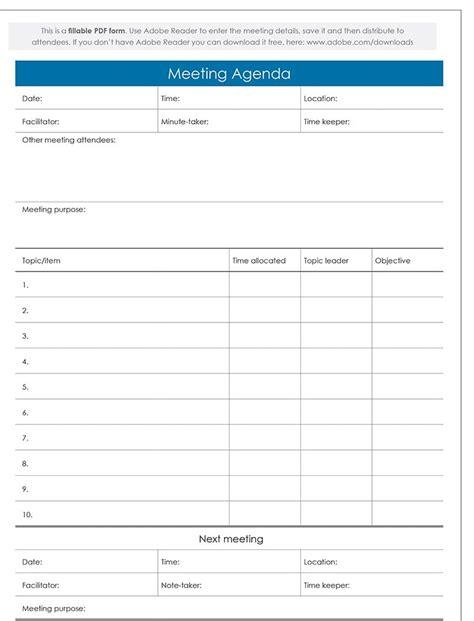 agenda templates excel  formats