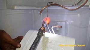 Memperbaiki Kulkas 1 Pintu Ganti Evaporator Yang Tertusuk Pisau  Bocor