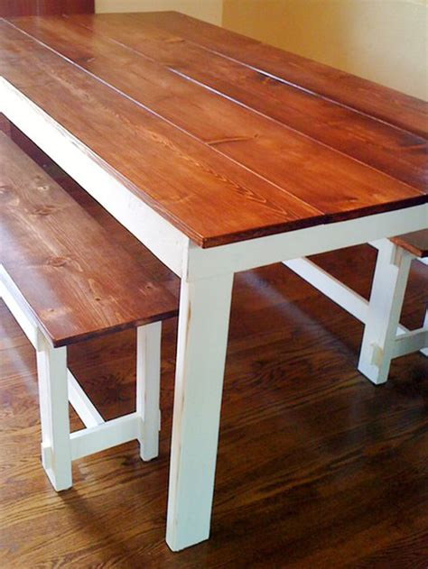 farm style table with bench farm style table with storage bench home decorating ideas