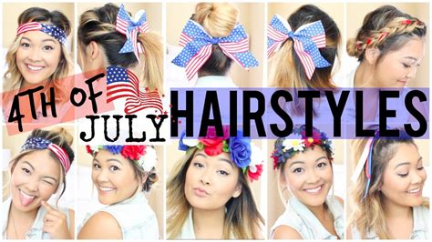 easy fourth  july hairstyles youtube