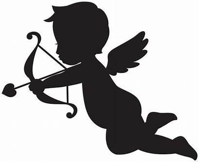 Cupid Transparent Silhouette Clipart Svg Valentine Yopriceville