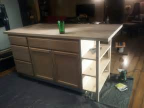 how to make kitchen island from cabinets a bundle of diy kitchen island